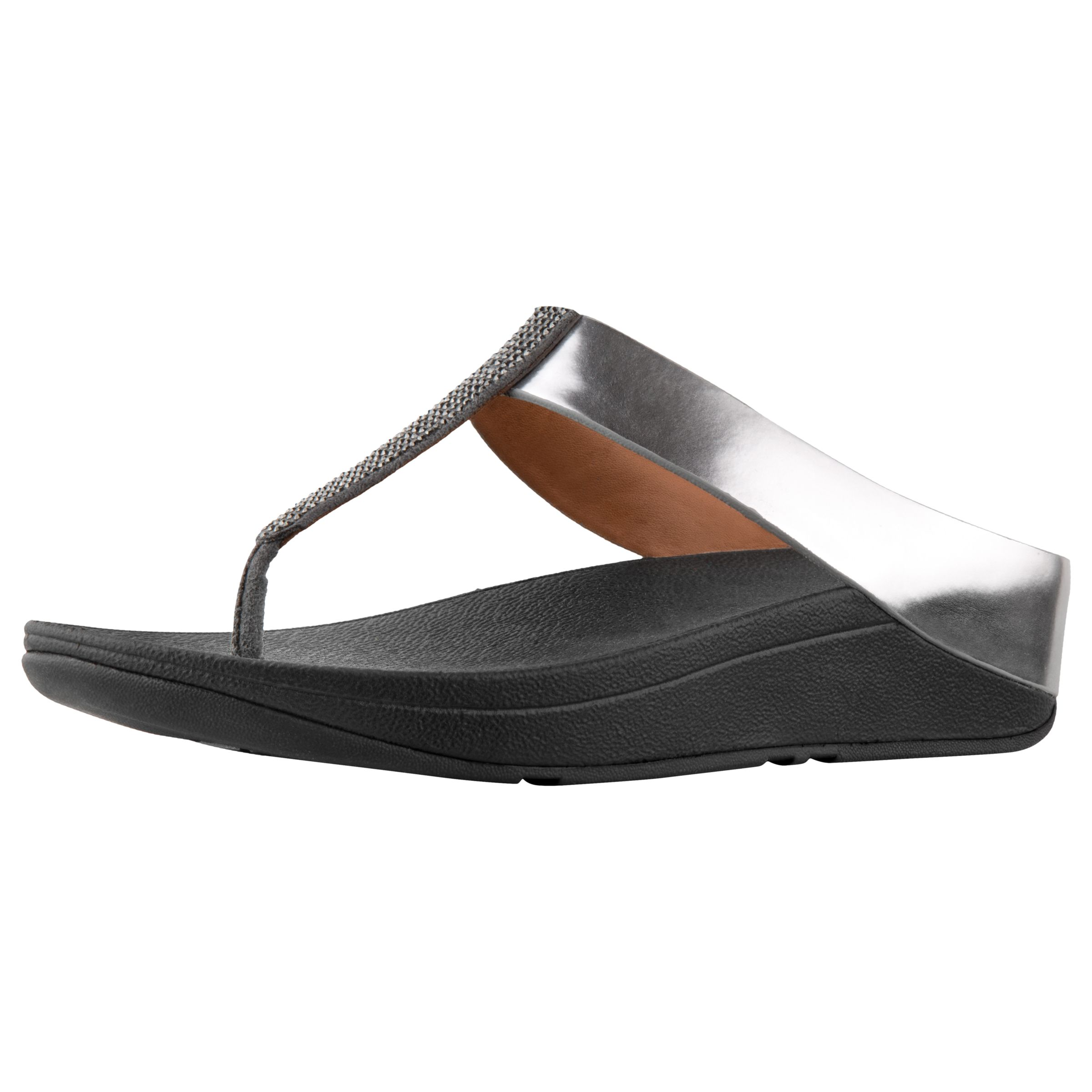 64a12e8f93a FitFlop Fino Crystal Toe Post Sandals at John Lewis   Partners
