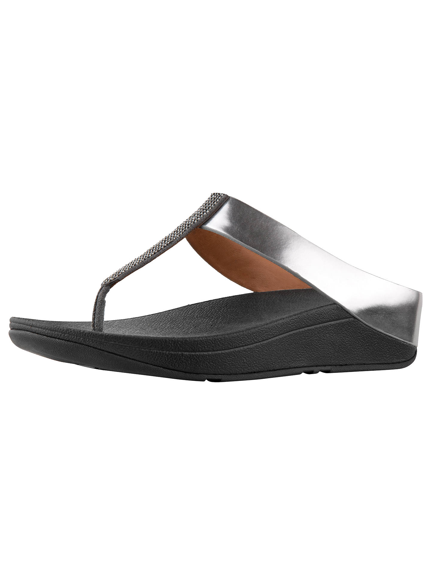 d2b5bf38e FitFlop Fino Crystal Toe Post Sandals at John Lewis   Partners
