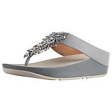 Buy FitFlop Rumba Embellished Toe Post Sandals Online at johnlewis.com