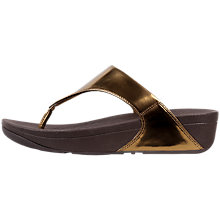 Buy FitFlop Lulu Toe Post Sandals, Bronze Online at johnlewis.com