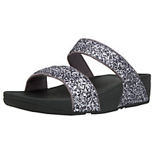 Buy FitFlop Glitterball Slider Sandals, Pewter Online at johnlewis.com