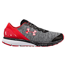 Buy Under Armour Charged Escape Men's Running Shoes, Black/White/Red Online at johnlewis.com