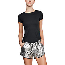 Buy Under Armour Swyft Short Sleeve Running Shirt, Black/Reflective Silver Online at johnlewis.com