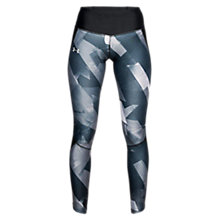 Buy Under Armour Fly Fast Printed Running Tights, Black/Reflective Silver Online at johnlewis.com