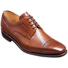 Buy Barker Leo Goodyear Welt Leather Derby Brogues, Hazelnut Brown Online at johnlewis.com