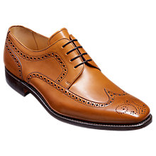 Buy Barker Larry Goodyear Welt Leather Derby Brogues, Cedar Online at johnlewis.com
