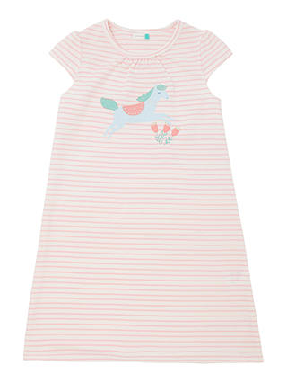 Buy John Lewis & Partners Girls' Horse Print Night Dress, Pink, 5 years Online at johnlewis.com