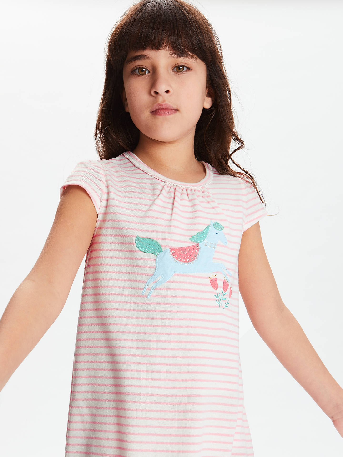 BuyJohn Lewis & Partners Girls' Horse Print Night Dress, Pink, 2 years Online at johnlewis.com