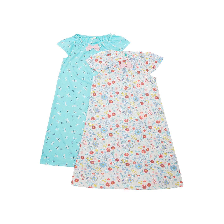 John Lewis Girls\' Dragonfly Print Night Dress, Pack of 2, Multi at ...
