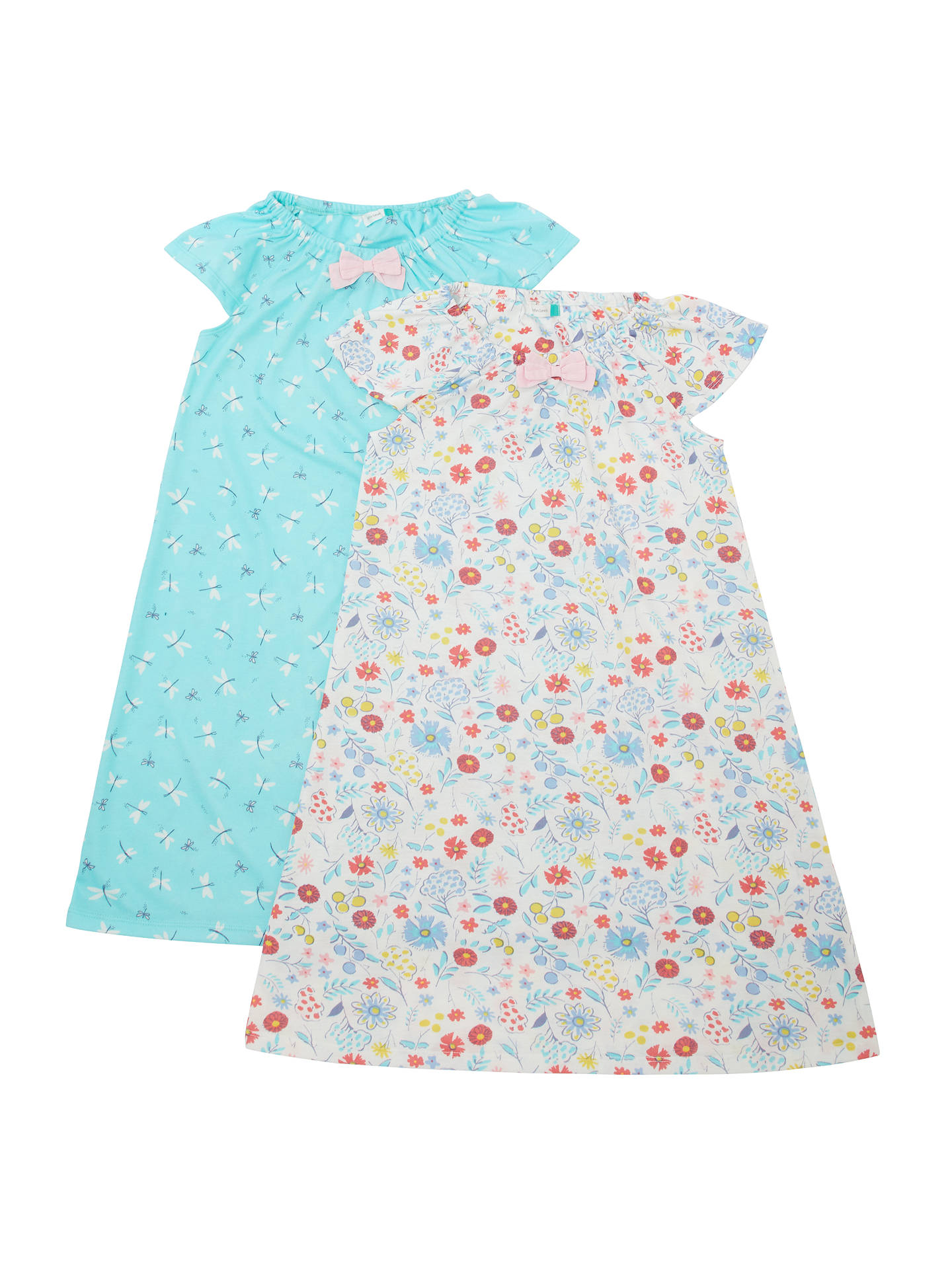 BuyJohn Lewis & Partners Girls' Dragonfly Print Night Dress, Pack of 2, Multi, 2 years Online at johnlewis.com