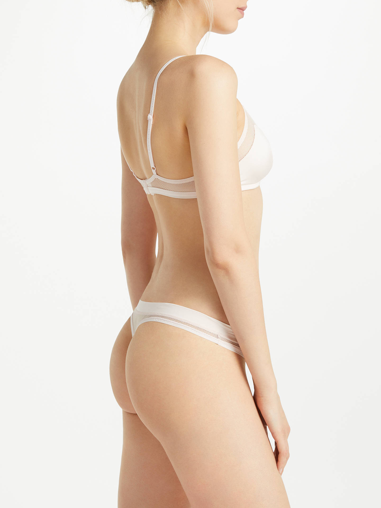 BuyCalvin Klein Underwear Youthful Unlined Triangle Bra, Nympth, L Online at johnlewis.com