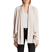 Buy AllSaints Saffi Cardigan, Almond Pink Online at johnlewis.com