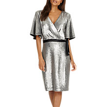 Buy Phase Eight Niki Sequin Dress, Silver Online at johnlewis.com