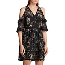 Buy AllSaints Christal Rosarium Dress, Black/Multi Online at johnlewis.com