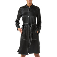 Buy Jigsaw Stitch Detail Shirt Dress, Black Online at johnlewis.com