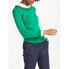 Buy Boden Bernadette Frill Detail Jumper Online at johnlewis.com