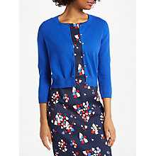 Buy Boden Cashmere Crop Crew Neck Cardigan, Klein Blue Online at johnlewis.com