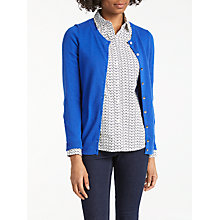 Buy Boden Cashmere Crew Neck Cardigan, Klein Blue Online at johnlewis.com