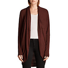 Buy AllSaints Itat Shrug, Burgundy Red Online at johnlewis.com