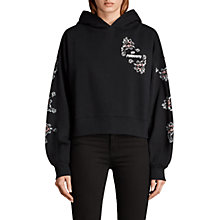 Buy AllSaints Fave Joyce Hoody, Black Online at johnlewis.com