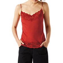 Buy Jigsaw Modal Lace Trim Vest Online at johnlewis.com