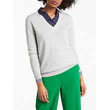 Buy Boden Cashmere Relaxed V-Neck Jumper Online at johnlewis.com