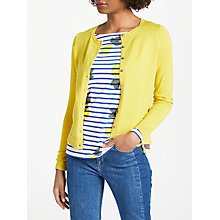 Buy Boden Favourite Crew Cardigan, Mimosa Yellow Online at johnlewis.com