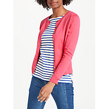 Buy Boden Favourite Crew Cardigan, Carnival Pink Online at johnlewis.com