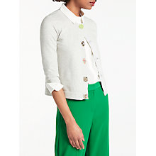 Buy Boden Denise Embellished Cardigan, Silver Melange Online at johnlewis.com