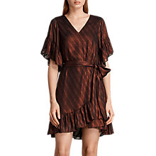 Buy AllSaints Belle Dress, Dark Red Online at johnlewis.com