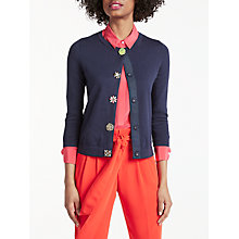 Buy Boden Denise Embellished Cardigan, Navy Online at johnlewis.com