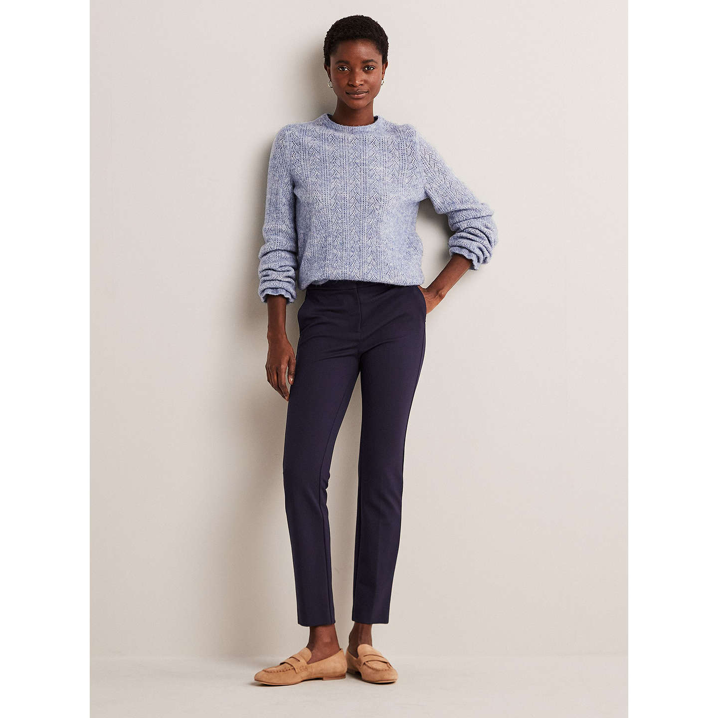 boden hampshire 7 8 trousers navy at john lewis