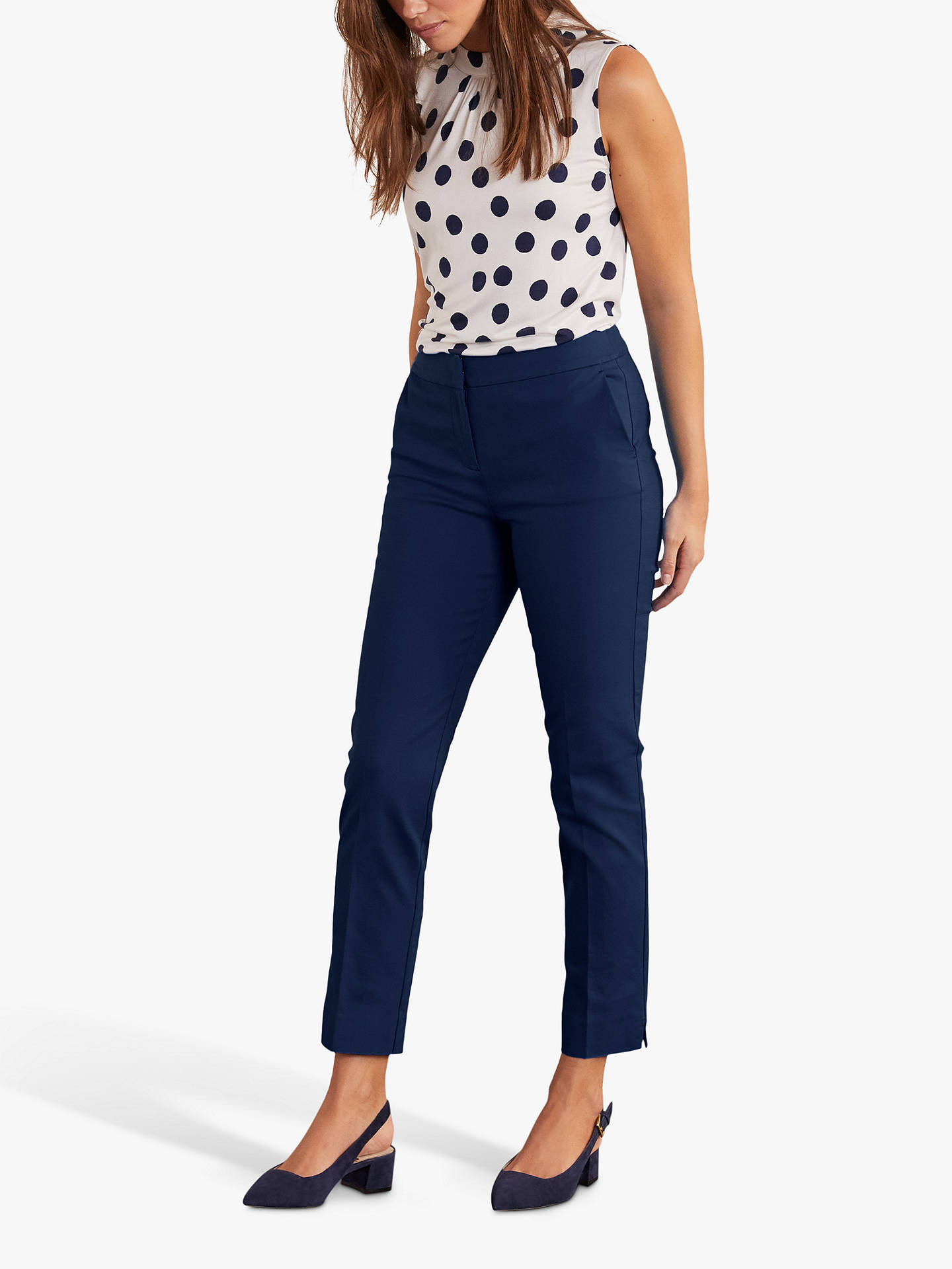 BuyBoden Hampshire 7/8 Trousers, Navy, 8 Online at johnlewis.com