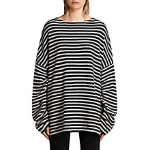Buy AllSaints Marcel Crew Jumper, Ink/Ecru White Online at johnlewis.com