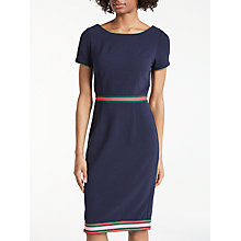 Buy Boden Kaia Ottoman Dress, Navy/Multi Stripe Online at johnlewis.com