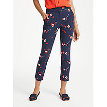 Buy Boden Hampshire 7/8 Floral Trousers, Navy Online at johnlewis.com