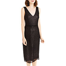 Buy Oasis Lace Midi Dress, Metallic Pewter Online at johnlewis.com