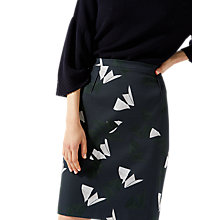 Buy Jigsaw Abstract Strokes Pencil Skirt, Navy/Multi Online at johnlewis.com