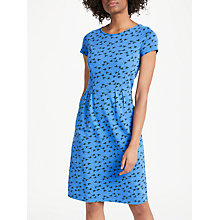 Buy Boden Phoebe Jersey Dress, Soft Blue Birds Online at johnlewis.com
