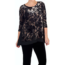Buy Chesca Velvet Devoree Top, Black/Oyster Online at johnlewis.com