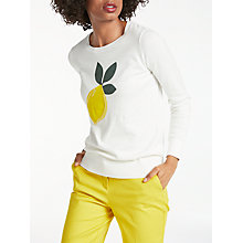 Buy Boden Rafaela Printed Jumper, Lemon Placement Online at johnlewis.com