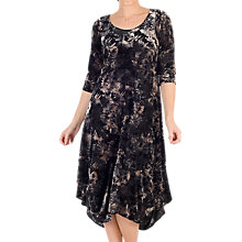 Buy Chesca Velvet Devoree Dress, Black/Oyster Online at johnlewis.com