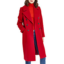 Buy Oasis Alba Collar Car Coat, Rich Red Online at johnlewis.com