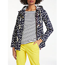 Buy Boden Whitby Waterproof Jacket, Navy Birds Online at johnlewis.com