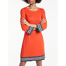 Buy Boden Trudy Knitted Dress, Red Pop Online at johnlewis.com
