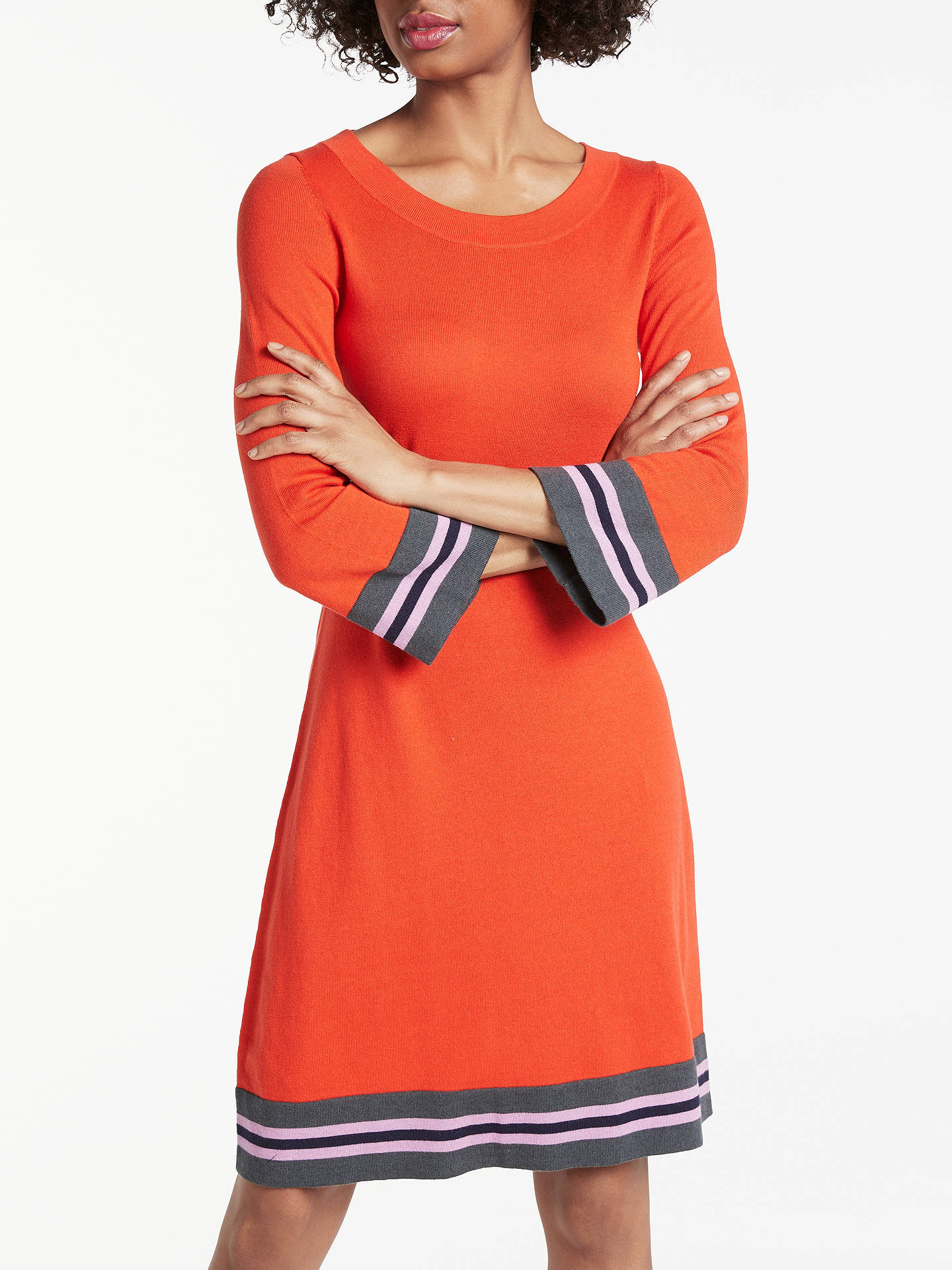 Buy Boden Trudy Knitted Dress, Red Pop, 8 Online at johnlewis.com