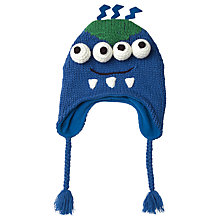 Buy Fat Face Children's Alien Trapper Hat, Blue Online at johnlewis.com