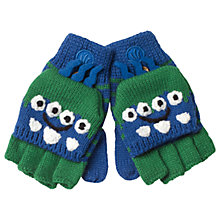 Buy Fat Face Children's Alien Mittens, Blue/Green Online at johnlewis.com