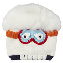 Buy Fat Face Children's Yeti Beanie Hat, Ecru Online at johnlewis.com