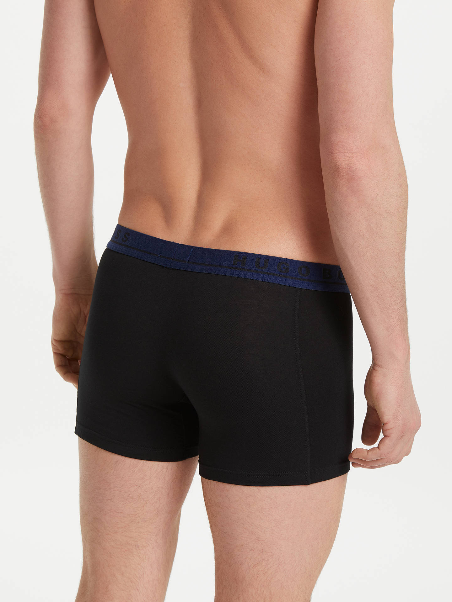 Buy BOSS Plain Contrast Waistband Trunks, Pack of 3, Yellow/Grey/Navy, S Online at johnlewis.com